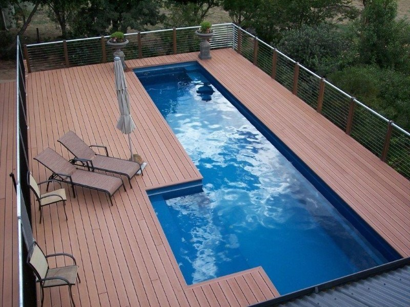 Above Ground Fibreglass Pools with Maxi Rib Technology