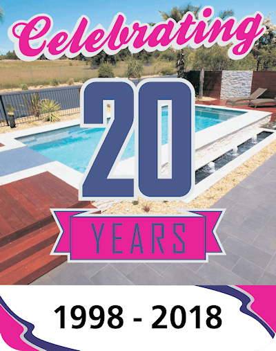 Celebrating 20 years of building quality fibreglass swimming pools