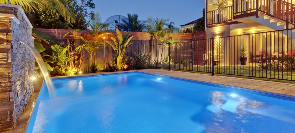 Pool lighting creates unforgettable athmosphere by your pool