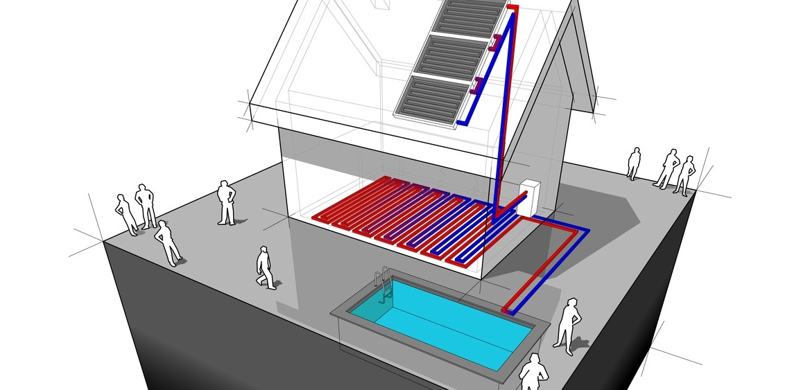 Local Pools Spas Solar pool heating installation